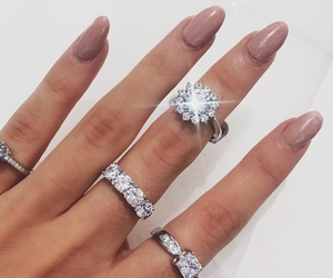 nails, diamond, and ring image