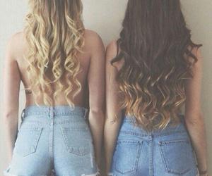 hair, blonde, and shorts image