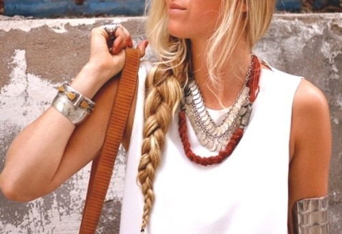 red, blond, and neckless image