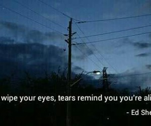tears and ed sheeran image