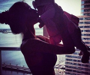 baby, mom, and daughter image