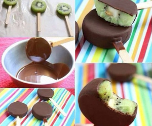 chocolate, kiwi, and food image