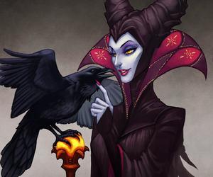 maleficent, disney, and art image