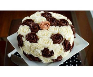 cake, floral, and light image