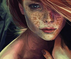freckles, art, and perfect image