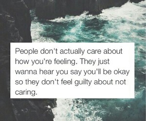 people, quote, and sad image