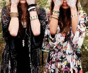 beauty, girls, and hippie image