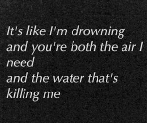 love, dark, and drowning image