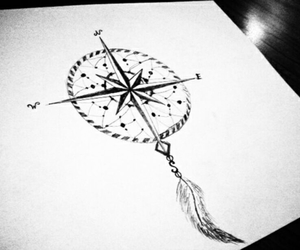 compass and dreamcatcher image