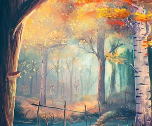 autumn, beautiful, and drawing image