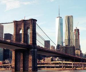 brooklyn bridge, new york, and ny image
