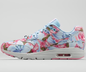 nike, blue, and flowers image