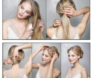 blond, hairstyles, and messy image