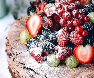 cake, food, and fruit image