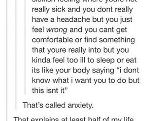 anxiety, tumblr, and relatable image