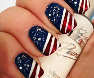 america, nails, and love image
