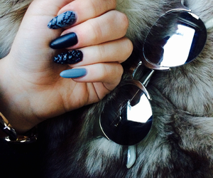 nails, amazing, and black image