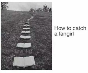 books, fangirl, and black and white image