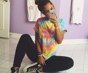 converse, outfit, and iphone image
