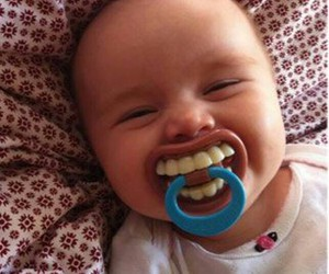 baby, funny, and smile image