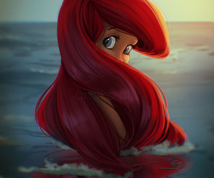 ariel, disney, and mermaid image