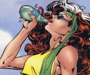 comics, summer, and water image
