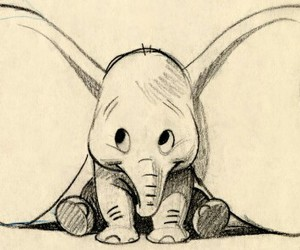 drawing, dumbo, and disney image