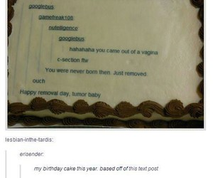 funny, tumblr, and cake image