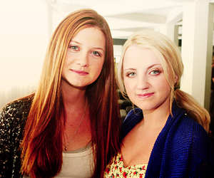 bonnie wright, harry potter, and evanna lynch image