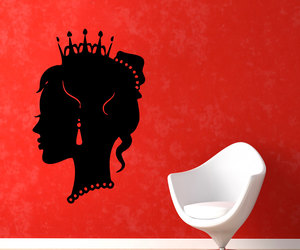 beauty salon, girl room decor, and vinyl stickers image