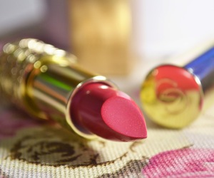 cerise, gold, and lipstick image