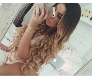 blonde, brown, and ombre image