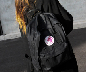 backpack, ombre, and black image