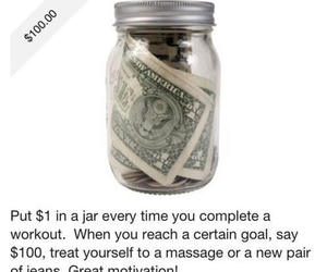 motivation, money, and fitness image