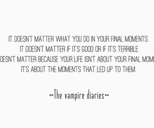 quote, the vampire diaries, and tvd image