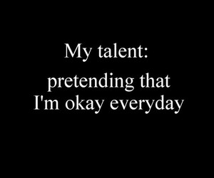 quote, sad, and talent image