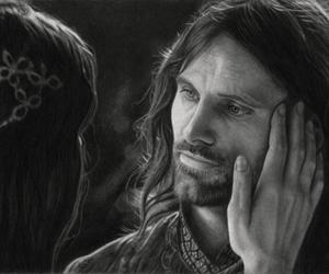 artist, lord of the rings, and pencil image