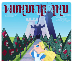 alice in wonderland, art, and disney image