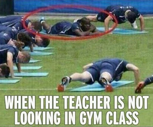 gym, funny, and teacher image