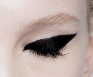 makeup, black, and blonde image