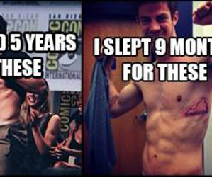 lol, barry allen, and stephen amell image
