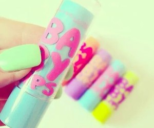 baby lips, nails, and make up image