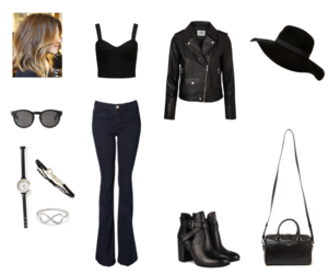 black, jeans, and outfits image