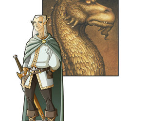 christopher paolini, inheritance cycle, and eragon image