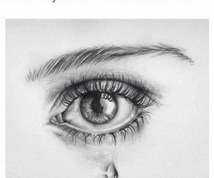 cry, drawing, and eye image