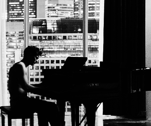 christian grey, piano, and fifty shades of grey image
