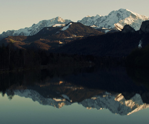 mountains, beautiful, and lake image