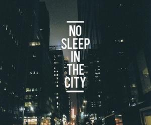 city, sleep, and night image