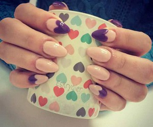 beautiful, hearts, and nails image