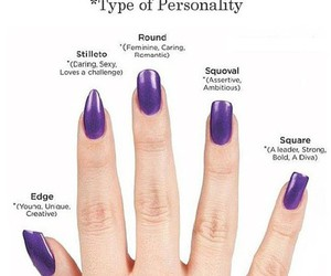 nails, personality, and purple image
